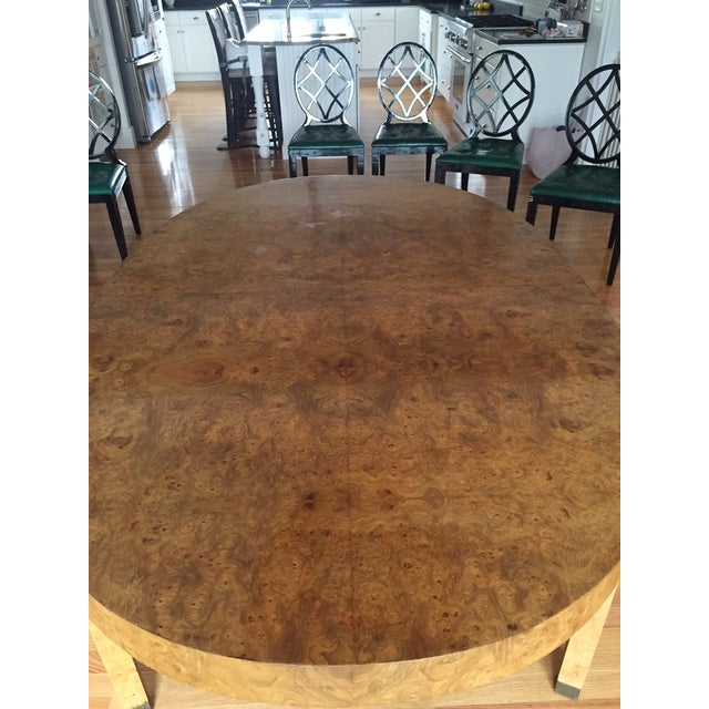 This lovely mid-century modern burlwood table was purchased from a local vintage dealer who got it from a local estate. I...