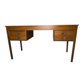 1960s Mid-Century Modern Teak Writing Desk For Sale