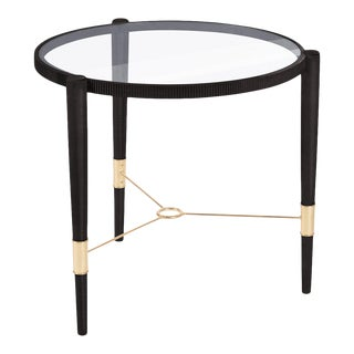 Getz Side Table in Noir For Sale