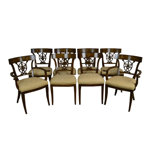 Nahon Custom Quality Set of 8 Regency Style Mahogany Dining Chairs For Sale - Image 13 of 13