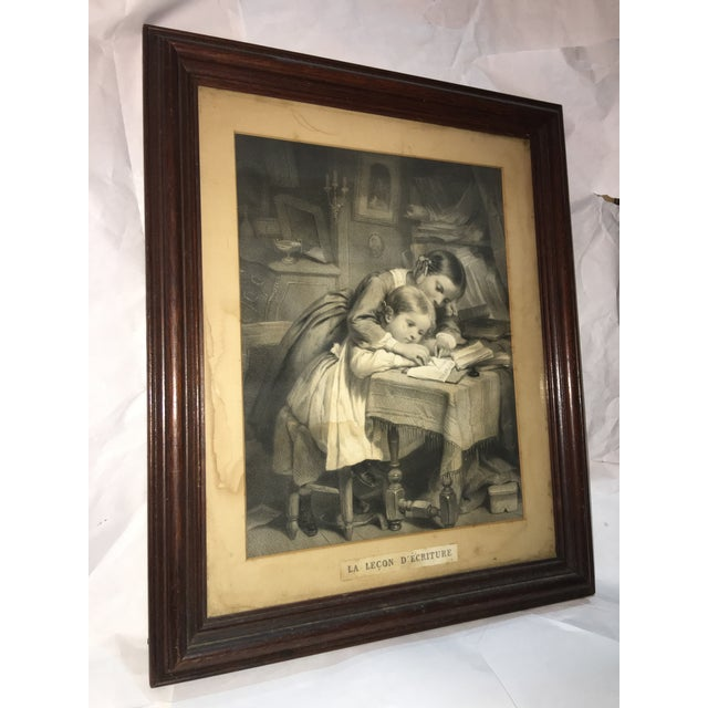 "19th Century ""The Writing Lesson"" Lithograph - Image 3 of 11"