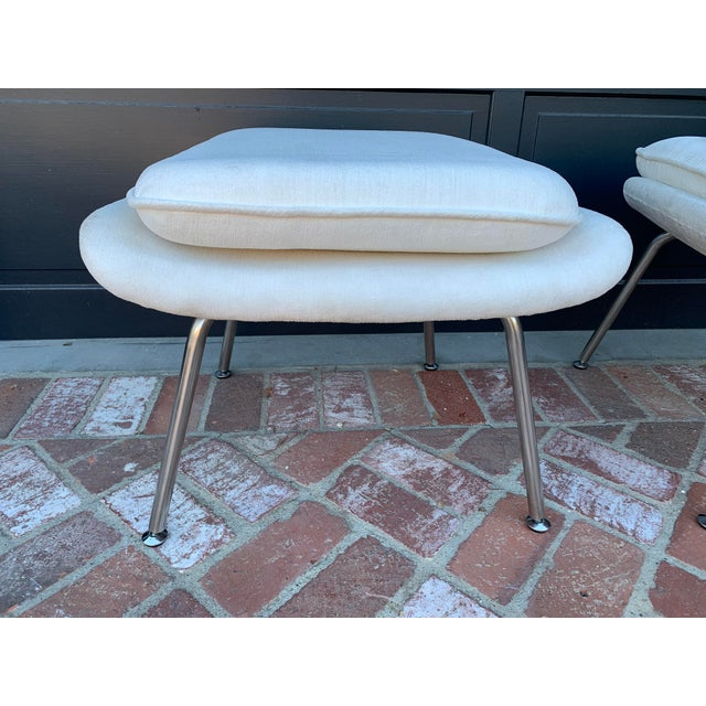 Contemporary Contemporary Ottomans - a Pair For Sale - Image 3 of 5