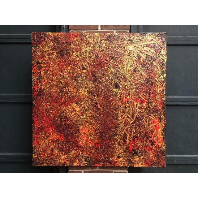 "Acrylic Painting by Artist Troy Smith - Title, In The Line Of Fire. Contemporary Art - Abstraction Dimensions - 36"" x 36""..."