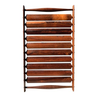 1960s Danish Modern Jens Quistgaard Slatted Rosewood Tray For Sale