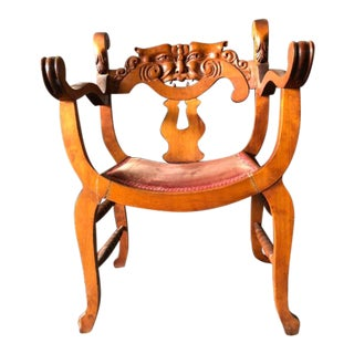 1900s Traditional North Wind Curule Throne Chair