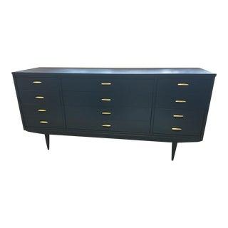 Mid Century Modern Long Navy Dresser