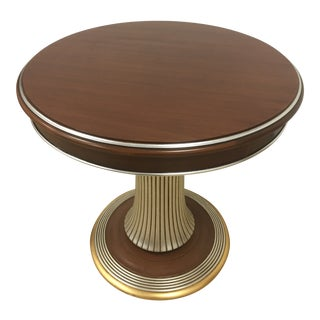 100% Made in Italy by Caspani Tino . Walnut Wood Side Table For Sale
