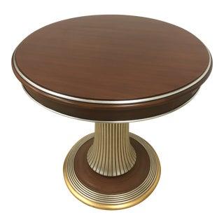 Caspani Walnut Wood Side Table For Sale