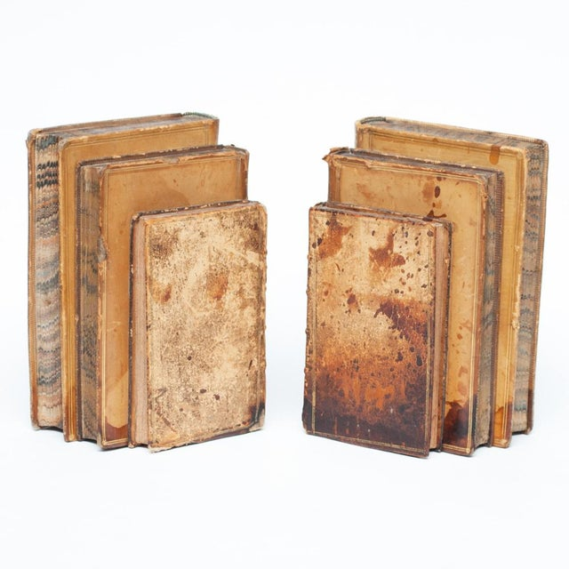 Paint 18th Century American Classical Antique Book Bookends - a Pair For Sale - Image 7 of 10