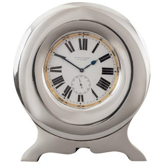 Pocket Clock in Sterling Silver Stand, 1904 For Sale