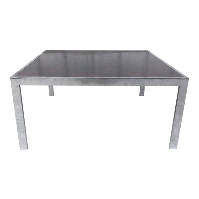 Vintage Modern Rosewood and Chrome Coffee Table For Sale