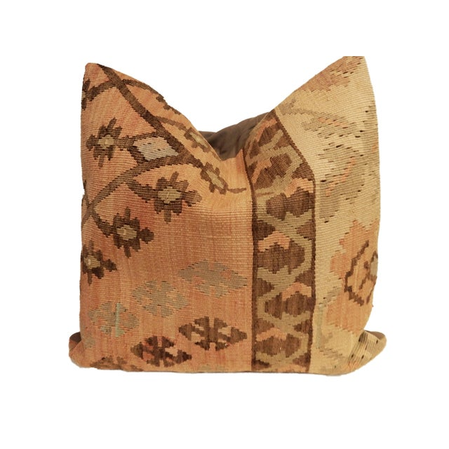 Old Turkish Tribal Kilim Pillow - Image 3 of 7