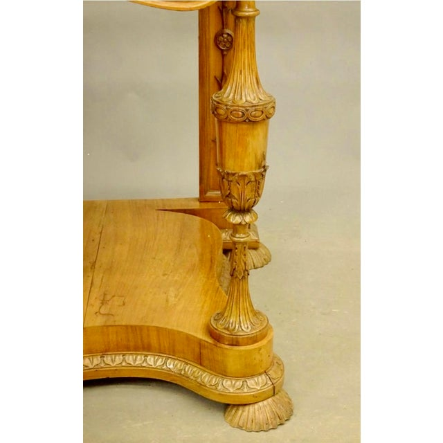 19th Century Biedermeier Fruitwood Console For Sale In Boston - Image 6 of 8