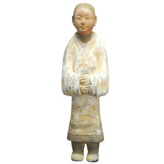 Chinese Han Style Ceramic Pottery Figure For Sale