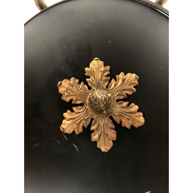 Metal Empire Style 6 Arm Brass Chandelier With Black Finish - From the Waldorf Astoria For Sale - Image 7 of 12