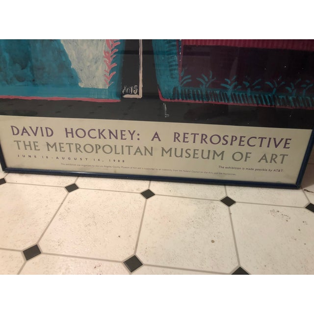 1980s David Hockney: A Retrospective Met Exhibit Poster For Sale - Image 5 of 6