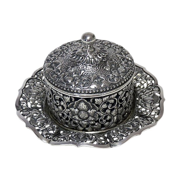 1937 Coin Silver Victorian Condiment Pot For Sale