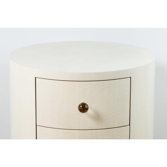 Italian-Inspired 1970s Style Round Nightstand - Image 3 of 8