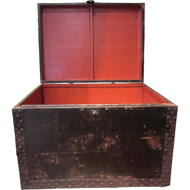 Chinese Black Wood Treasure Box - Image 2 of 4
