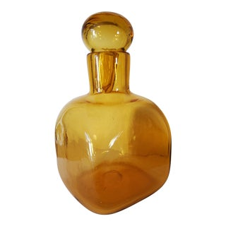 1960s Vintage Glass Decanter With Stopper For Sale