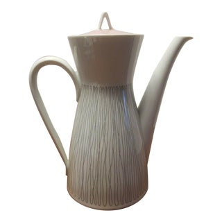 1960s Rosenthal Form 2000 Stripes Coffee Tea Pot Raymond Loewy Style For Sale