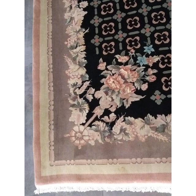 """Chinese Handmade Wool Rug - 8'4"""" x 11'8"""" - Image 3 of 5"""