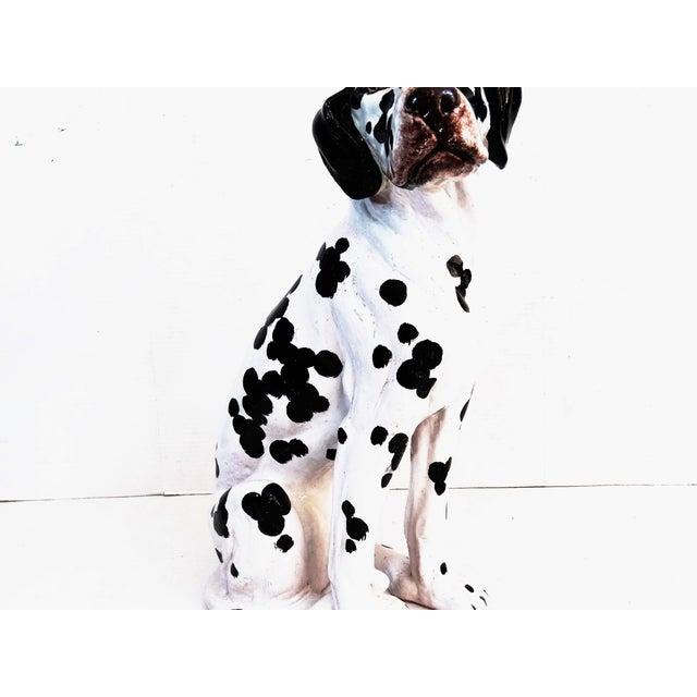 Boho Chic Mid-Century Modern Italian Dalmatian Dog Statue For Sale - Image 3 of 8