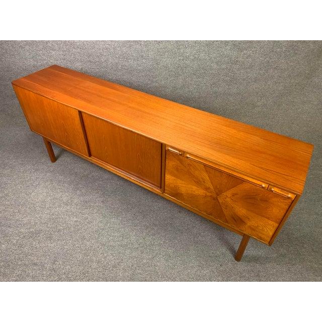 "Wood 1960s British Mid Century Modern McIntosh Teak ""Sunburst"" Credenza For Sale - Image 7 of 11"