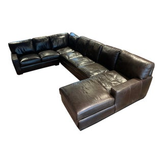 USA Premium Furniture Leather Sectional For Sale