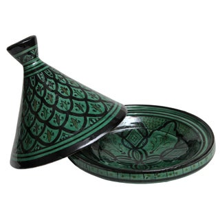 Hand-Crafted Moroccan Berber Tagine Lidded Bowl