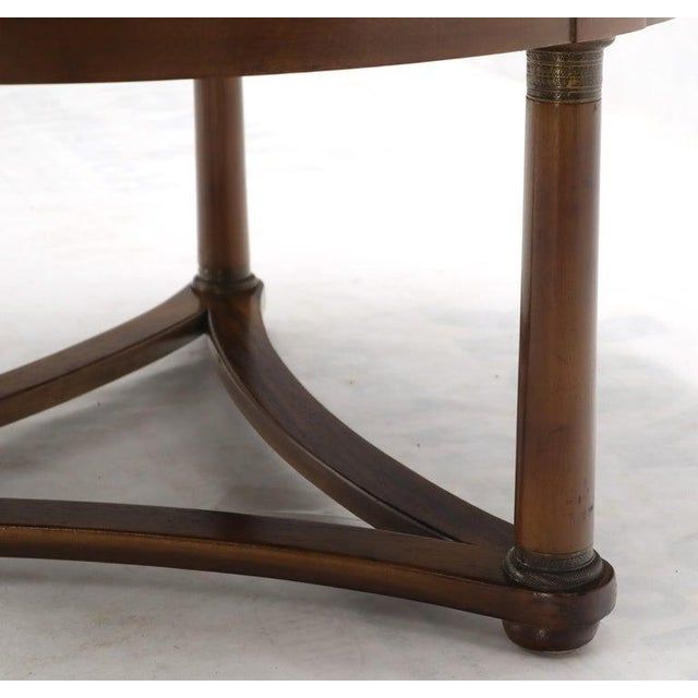 Round Rosewood Neoclassical Rosewood Banded Top Coffee Center Table For Sale - Image 10 of 11