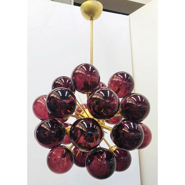 Italian Ventiquattro Sputnik Chandelier by Fabio Ltd For Sale - Image 3 of 12