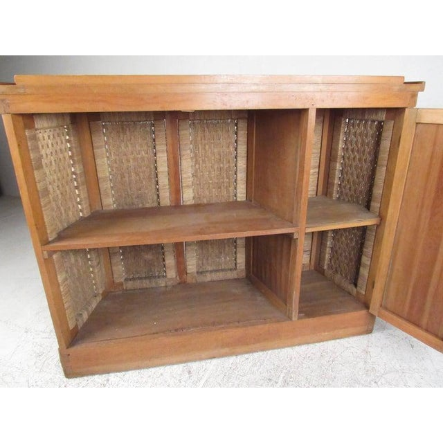 2000 - 2009 Tropical Tiki Style Dry Bar With Stools For Sale - Image 5 of 11