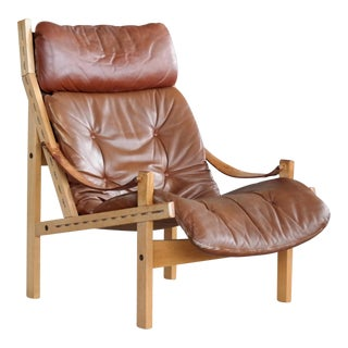 Midcentury Easy Chair Model Hunter by Torbjørn Afdal for Bruksbo, Norway For Sale
