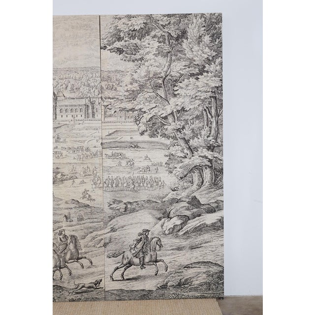 Wood French Provincial Toile De Jouy Textile Panels For Sale - Image 7 of 13