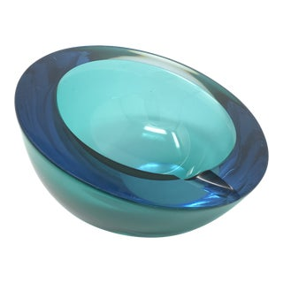 Mid-Century Viking Glass Ashtray For Sale