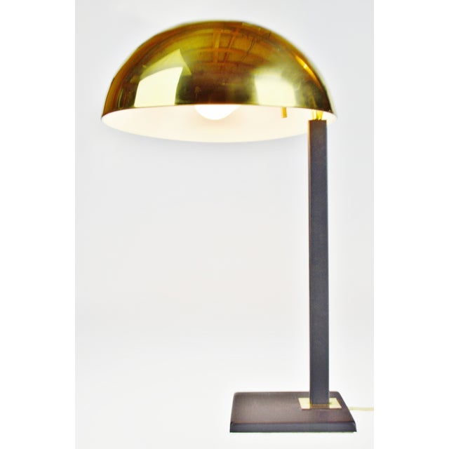 Mid Century Brass Dome Shade Desk Lamp For Sale - Image 13 of 13
