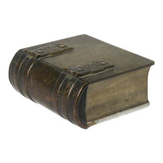 Celtic Bronze & Marble Book Box For Sale