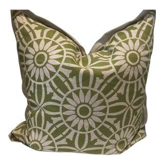 Green Boho Decorative Throw Pillow