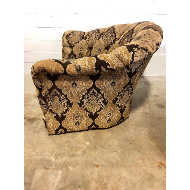 Marge Carson Veronica Chair & Ottoman Sets - A Pair For Sale - Image 5 of 8