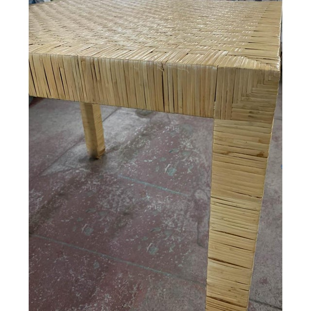 Wood Bielecky Rattan Basket Weave Dining Table For Sale - Image 7 of 11