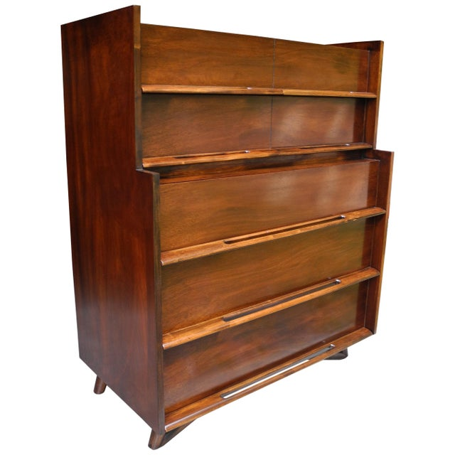 Mid-Century Modern Highboy or Tall Dresser by Edmond J. Spence For Sale - Image 10 of 10