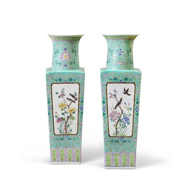 Traditional Bungalow 5 Imperial Square Turquoise Porcelain Vase
