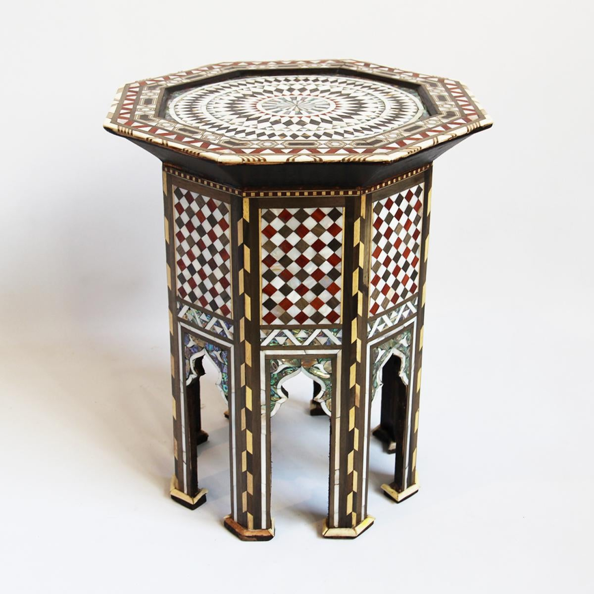 Moroccan Octagon Inlay Side Table   Image 3 Of 6
