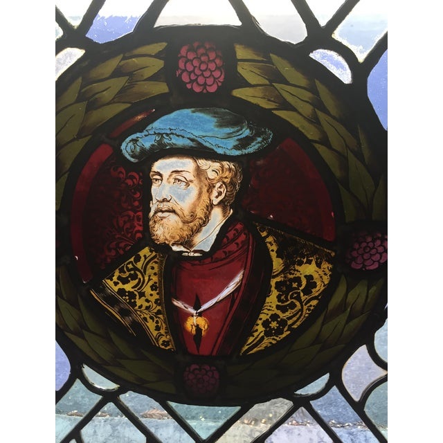 Antique Gothic Stained Glass Panels- a Pair For Sale - Image 10 of 12