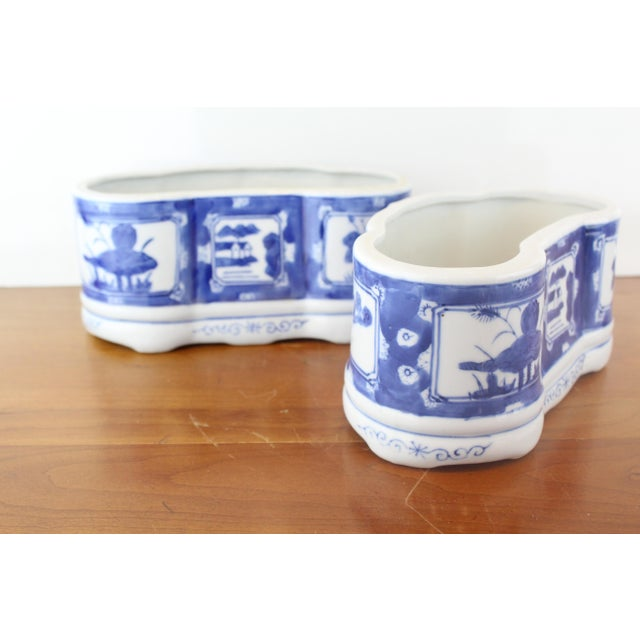 Asian Vintage Mid Century Chinese Planters- A Pair For Sale - Image 3 of 6