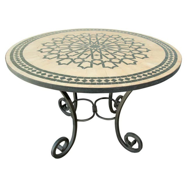 Moroccan Mosaic Tile Table in Fez Moorish Design For Sale - Image 11 of 11