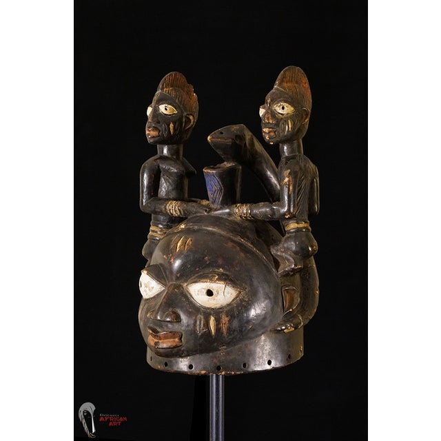 Yoruba African Tribal Helmet Mask - Image 2 of 10