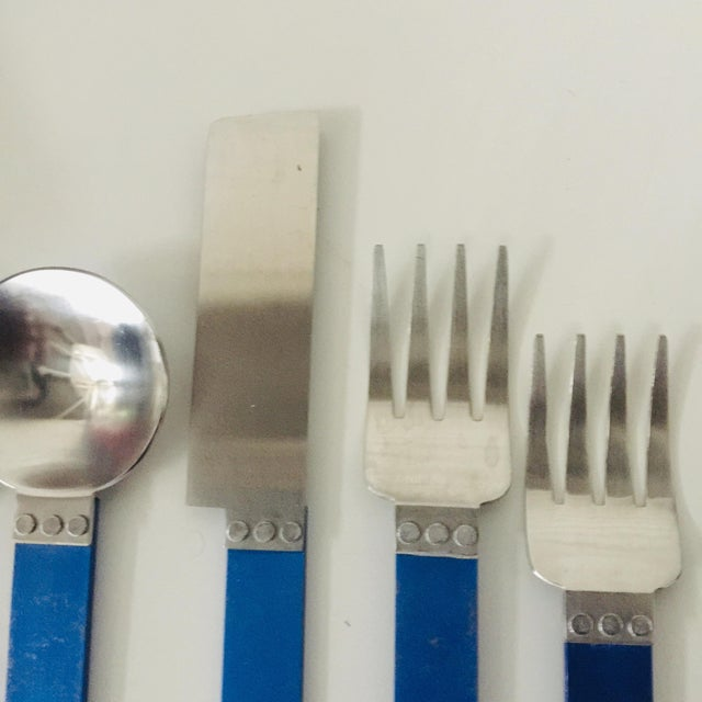 """Bauhaus 1980s 5 Piece Metal """"electra"""" Flatware by David Tisdale for Sasaki For Sale - Image 3 of 11"""