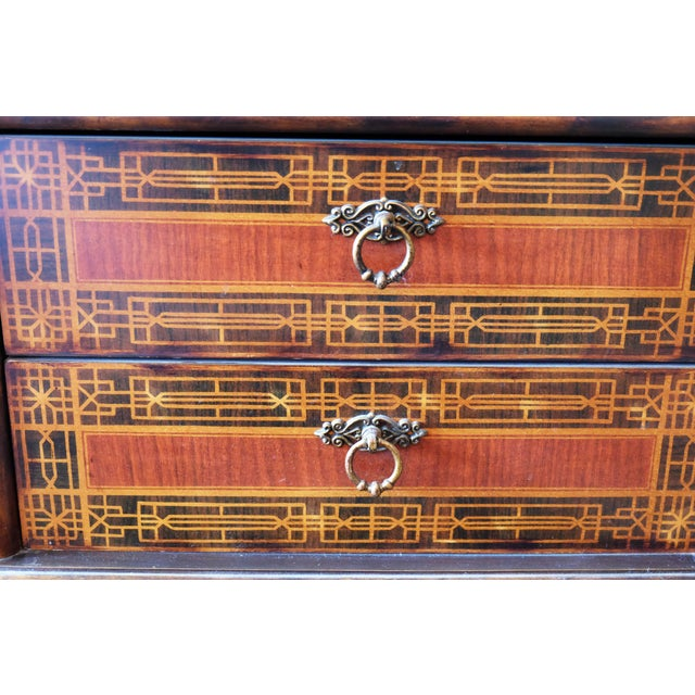 Vintage Chinese Scene Chest, With 2 Drawers For Sale - Image 4 of 7